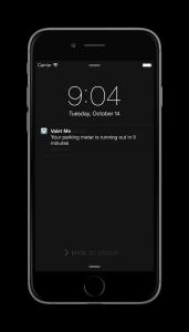 Valet Me - push notification