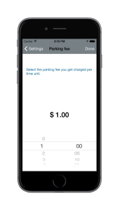 Valet Me - select parking fee